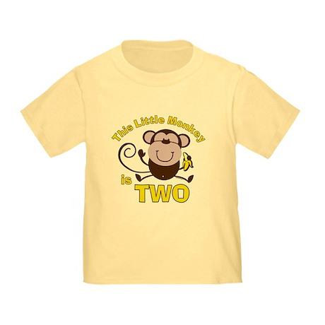 Little Monkey 2nd Birthday Boy Toddler T-Sh