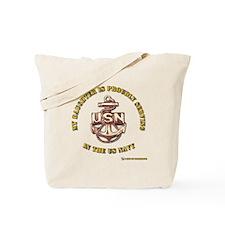 Navy Gold Daughter Tote Bag