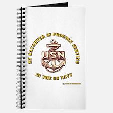 Navy Gold Daughter Journal