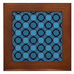Gusto Blues Framed Tile