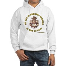 Navy Gold Son Hoodie