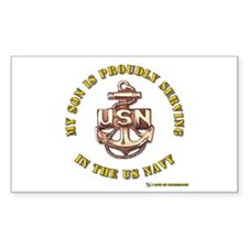 Navy Gold Son Rectangle Decal