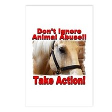 Don't ignore animal abuse! Postcards (Package of 8