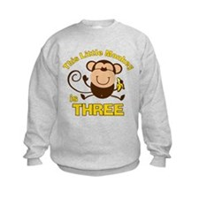 Little Monkey 3rd Birthday Boy Sweatshirt