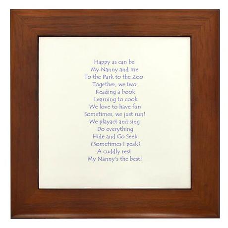 A POEM FOR NANNY Framed Tile