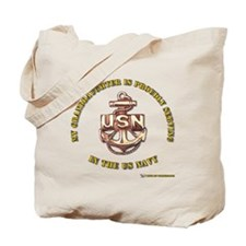 Navy Gold Granddaughter Tote Bag