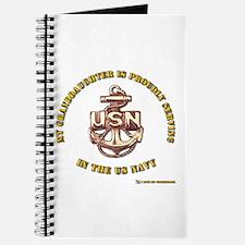 Navy Gold Granddaughter Journal