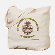 Navy Gold Grandson Tote Bag