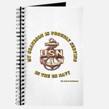 Navy Gold Grandson Journal