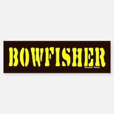 BOWFISHER Bumper Bumper Bumper Sticker