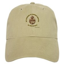 Navy Gold Husband Baseball Cap