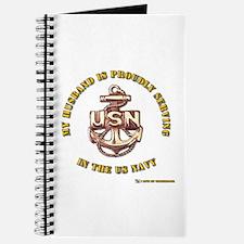 Navy Gold Husband Journal