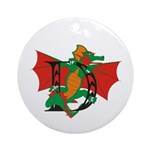 Dragon D Ornament (Round)