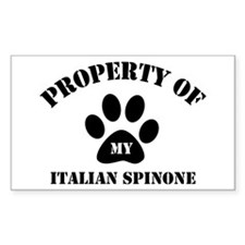 My Italian Spinone Rectangle Decal