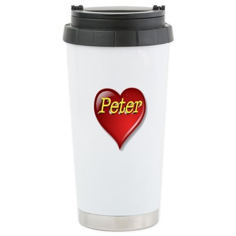 The Great Peter Heart Stainless Steel Travel Mug