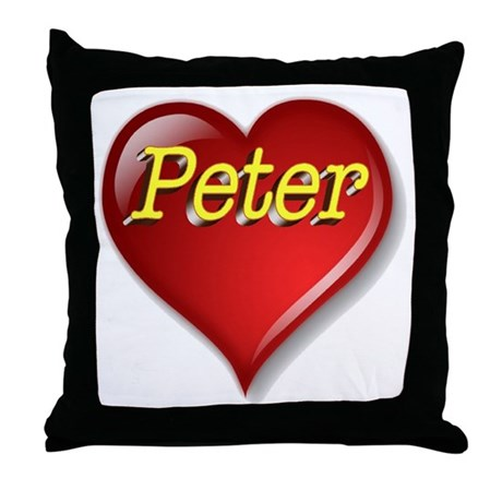 The Great Peter Heart Throw Pillow