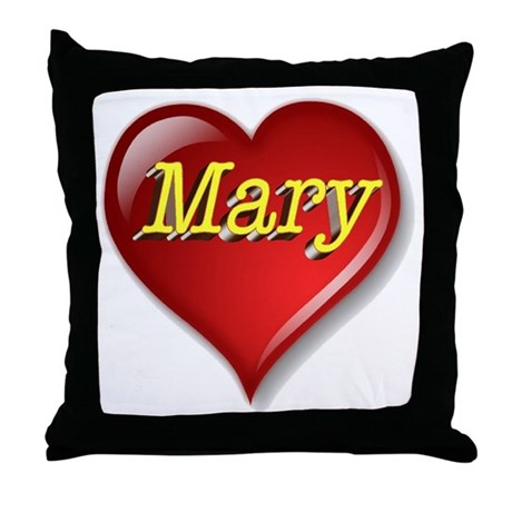 The Great Mary Heart Throw Pillow