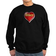 The Great Hillary Heart Sweatshirt