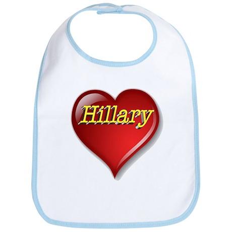 The Great Hillary Heart Bib