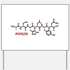 Ashlyn name molecule Yard Sign