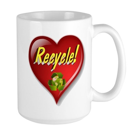 The Great Recycle Heart Large Mug