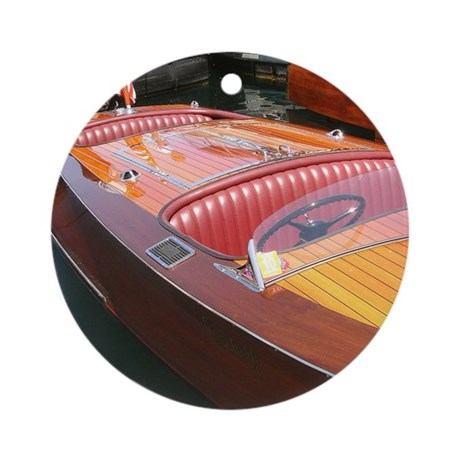 Century Boats Wooden Runabouts Ornament (Round)