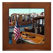 Wooden Boats Framed Tile