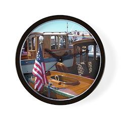 Wooden Boats Wall Clock