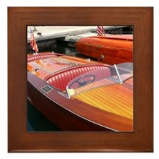 Century Boats Wooden Runabaouts Framed Tile