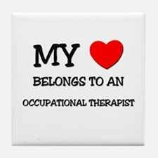 My Heart Belongs To An OCCUPATIONAL THERAPIST Tile