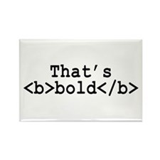 That's Bold Rectangle Magnet (100 pack)