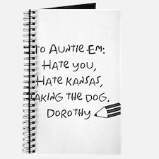 Dear Auntie Em Journal