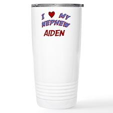 I Love My Nephew Aiden Travel Mug