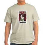 WHERES SANTA? GREAT DANE  Ash Grey T-Shirt
