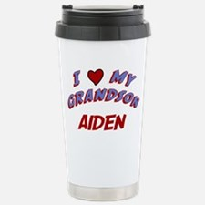 I Love My Grandson Aiden Stainless Steel Travel Mu