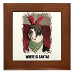 WHERES SANTA? GREAT DANE  Framed Tile
