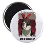 WHERES SANTA? GREAT DANE Magnet