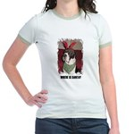 WHERES SANTA? GREAT DANE  Jr. Ringer T-Shirt
