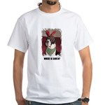 WHERES SANTA? GREAT DANE White T-Shirt