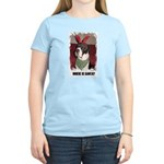 WHERES SANTA? GREAT DANE  Women's Pink T-Shirt