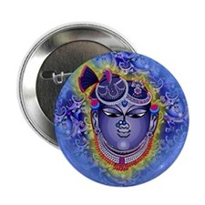"Shrinathji Face Round 2.25"" Button"