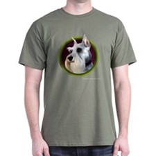 Miniature Schnauzer Art T-Shirt