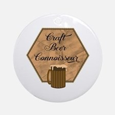 Craft Beer Connoisseur Round Ornament