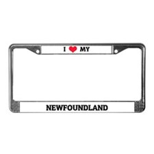 I Love (Heart) My Newfoundland License Plate Frame