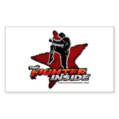 TheFighterInside.com Rectangle Sticker