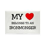 My Heart Belongs To An IRONMONGER Rectangle Magnet