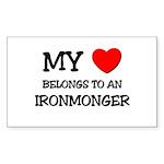 My Heart Belongs To An IRONMONGER Sticker (Rectang
