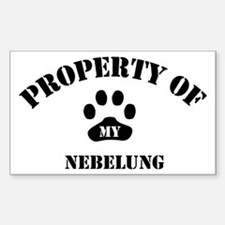 My Nebelung Rectangle Decal