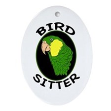 Bird Sitter Oval Ornament