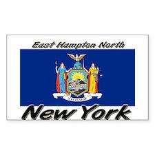 East Hampton North New York Rectangle Decal